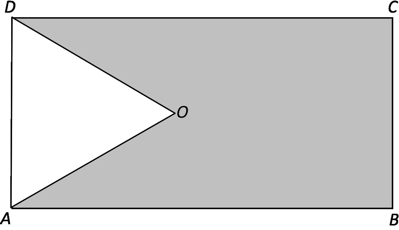 z prostokąta ABCD o obwodzie 30 wycięto trójkąt równoboczny AOD
