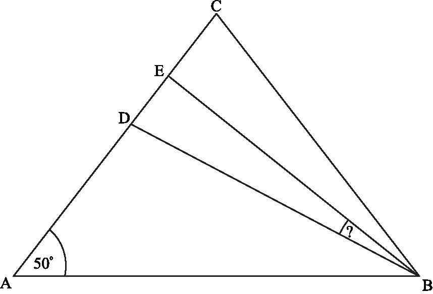 w trójkącie równoramiennym ABC spełnione są warunki