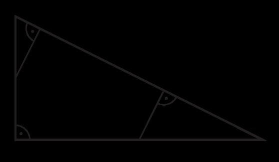 punkty D i E są środkami przyprostokątnych AC i BC trójkąta prostokątnego ABC