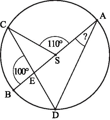 punkty A, B, C i D leżą na okręgu o środku S