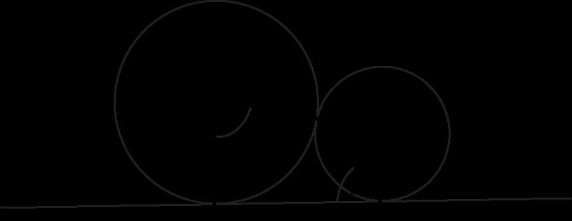 dane są dwa okręgi o środkach w punktach P i R styczne zewnętrznie w punkcie C