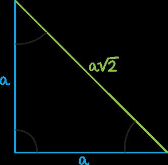 trójkąty o kątach 45, 45, 90