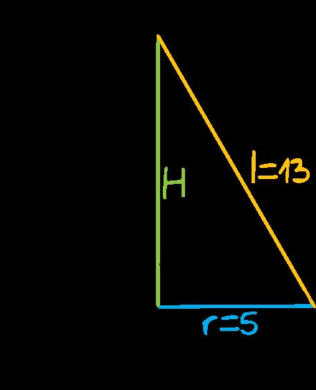 oblicz objętość stożka o promieniu podstawy