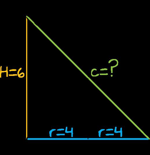 przekątna przekroju osiowego walca którego promień podstawy jest równy 4