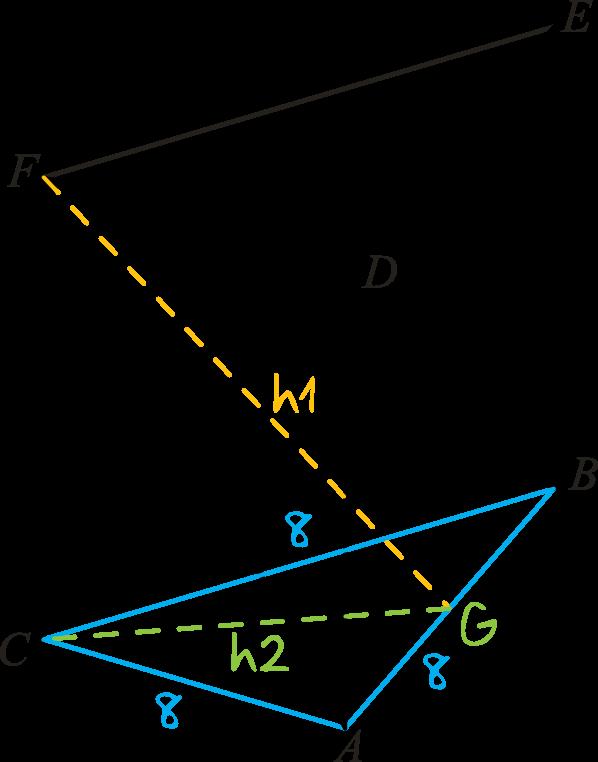 dany jest graniastosłup prawidłowy trójkątny ABCDEF