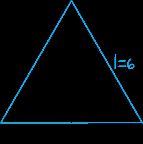 przekrojem osiowym stożka jest trójkąt równoboczny o boku długości 6