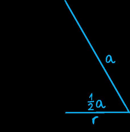 przekrój osiowy stożka jest trójkątem