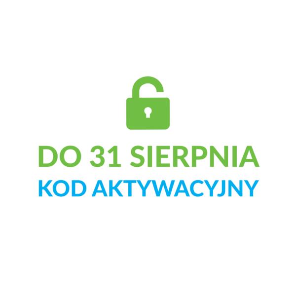 kod aktywacyjny do 31 sierpnia